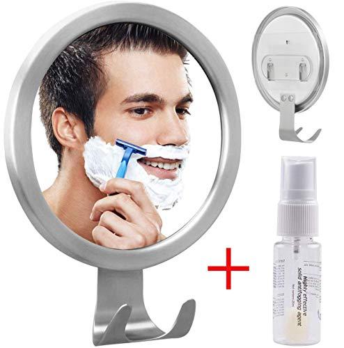 GlobaLink OHNE Bohren Antibeschlag Kosmetikspiegel Rasierspiegel Duschspiegel Badspiegel mit Starke Aufkleber und Halterung Antibeschlagmittel für Badezimmer Duschen