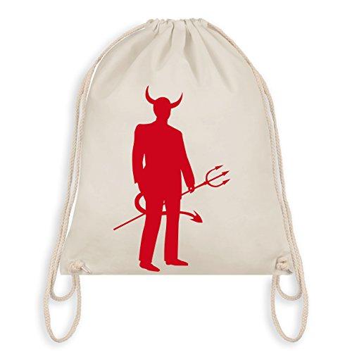 Halloween - Teufel - Turnbeutel I Gym Bag Naturweiß