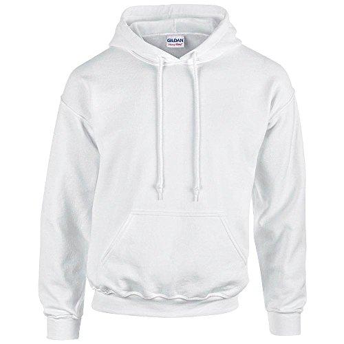 Gildan - Unisex Kapuzenpullover 'Heavy Blend' , White, Gr. XXL