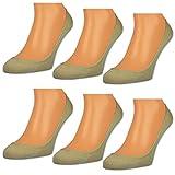 6 Paar Damen Füßlinge Unsichtbare Sneaker Socken Baumwolle Schwarz Weiße Beige - RS 15500