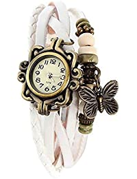 Unique Hunt New Arrival Special Collection Butterfly Dori Festive Season Special Analog Dial White Leather Dori...