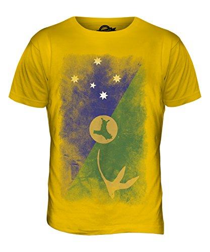CandyMix Weihnachtsinsel Australien Verblichen Flagge Herren T Shirt Dunkelgelb