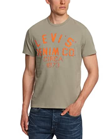 Levi's Herren T-Shirt Levi's STANDARD GRAPHIC CREW GOOD BETTER 65347, Gr. 56 (XXL ),  Beige (SHADOW 0386)