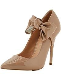 Amazon.es  Beige - Zapatos de tacón   Zapatos para mujer  Zapatos y ... bdc605e42433