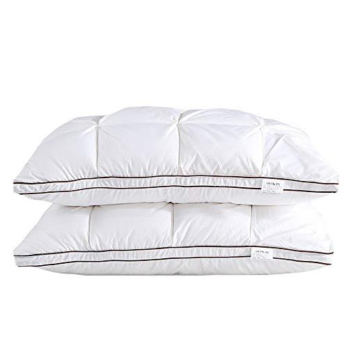 YUANLAISHINI Feder Cotton Kissen, Hotel-Serie, Luxus-Kissen, Super Soft Komfortkissen, Cotton Cover Necker Student Kissen, Waschhable Kissen -