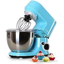 Klarstein Carina Azzura robot de cocina (1.1 HP, bol de acero inoxidable de 4