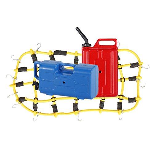 MagiDeal Elastic Luggage Net/Gepäcknetz + Mini Kraftstoff Tank + Wasserkrug Set für 1:10 RC Rock - 4x4 Rc 10 1 Crawler Rock