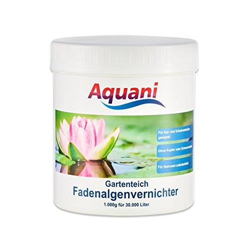 Aquani Fadenalgenvernichter Gartenteich 1.000g Algenmittel zum effektiven entfernen von Fadenalgen im Teich auch ideal als Algenvernichter/Teichpflege für Koi und Schwimmteich mit Algen geeignet
