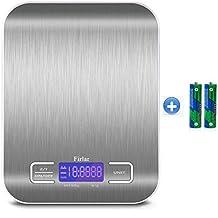Firlar 5 kg / 11lb postal numérique et de l'Alimentation Échelle en acier inoxydable Écran LCD rétroéclairé balance de cuisine électronique multifonction