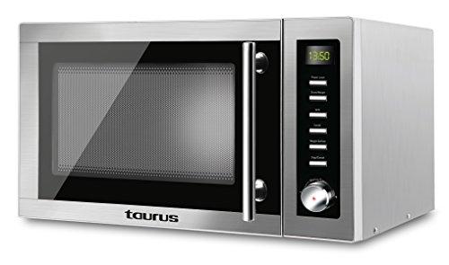 Taurus Laurent-Microondas (900 W, 25 litros Capacidad, 14 Niveles de Potencia, Multiples Funciones), Gris