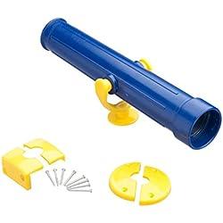 Fernrohr blau Teleskop Kunststoff Fernglas Kinder Zubehör für Spielturm Baumhaus