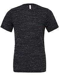 """Unisexe poly-coton t-shirt manche courte (BE119) - Noir Marbre, Medium / 38""""-41"""""""