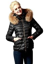631a65da9aa3c4 Chaleur Fashion Winterjacke Alice mit Fellkapuze in schwarz, Pelz, Echtfell
