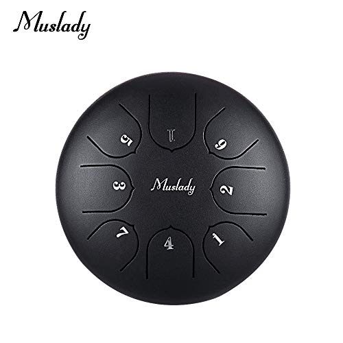 Festnight Muslady 6 pollici Mini Steel Tongue Drum C Key 8 Tones Percussioni a mano Pan Drum con Drum Mallets Carry Bag