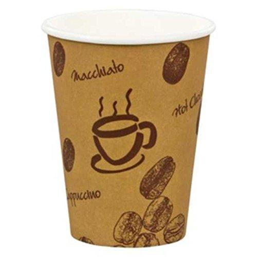 1000 Stk. Kaffeebecher Premium 'Coffee to go', Pappe beschichtet, 8oz., 200 ml / Hochwertiger...