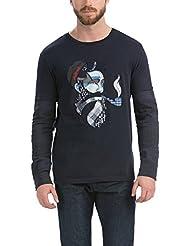 Desigual John Seatravel - T-shirt - Imprimé - Manches longues - Homme