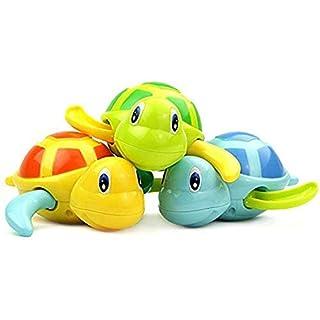 Amasawa Turtle Badewanne Spielzeug,Baby Bade Bad Schwimmen Badewanne Pool Spielzeug Nette Wind up Schildkröte Tier Badespielzeug Set Für Kinder (3 Teiliges Set, 3 Farbe)