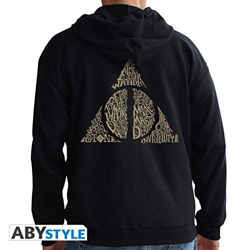 ABYstyle - Harry Potter - Sudadera - Deathly Hallows - Hombres - Negro (XL)