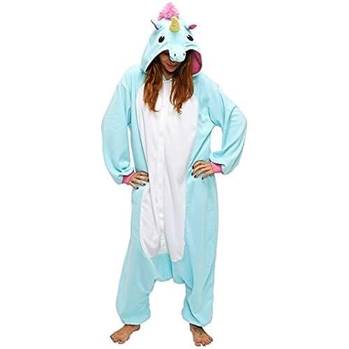 pijama de unicornio kawaii Chicone Unicorn Kigurumi Pijamas Unisexo Adulto Traje Disfraz Animal Adulto Animal Pyjamas Traje Disfraz de Halloween