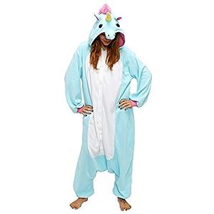 ef052aaef Dizoe Unicornio Pijama Adulto Animales Kigurumi Trajes Disfraz Halloween  Cosplay Ropa De Dormir
