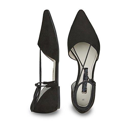Tamaris 1-24246-36/001 Damen Ballerina flacher Boden ohne ausgeprägten Absatz Schwarz (Schwarz)