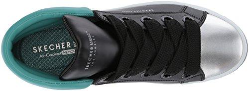 Skechers Hi-lites-Block Poppers, Sneaker a Collo Alto Donna Nero (Black)