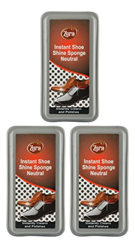 Zora Instant Shoe Shiner - Neutral (Pack of 3)