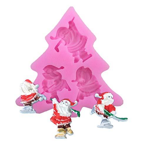 ngshanquzhuyu Exquisite 3D Weihnachtsmotive Silikon Backform Antihaft Kuchen Formen DIY Candy Pudding Schokolade Gelee Silikon Form Perfekt für Kuchen Dekoration für Zuhause - Picture Color (Candy Wachs Halloween)