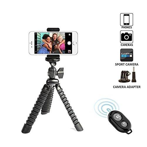 Handy stativ Besttrendy 11,5 Zoll Pipi Großes Flexibles Reisestativ kamera stativ für DSLR Kamera Super Flexible Gelenke Schnellspanner mitHandy Halterung und Bluetooth Fernbedieung Neu