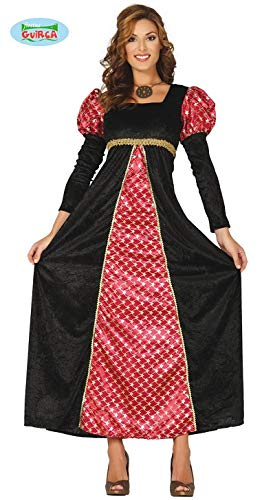 Unbekannt Mittelalterliches Prinzessinnen-Kostüm Burgfräulein schwarz-rot-Gold L (42-44) (Erwachsenen Mittelalterliche Prinzessin Kostüme)