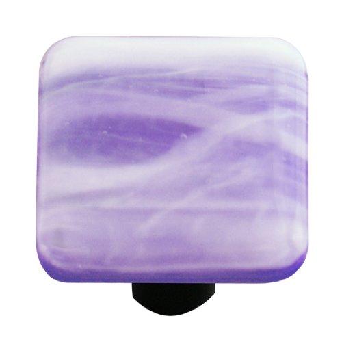 Kobalt-swirl (Aquila Art Glass hk2060-ka weiß Swirl Kobalt Blau Knopf, quadratisch)