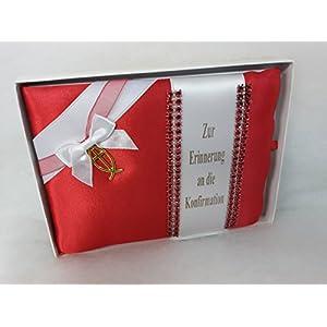 Konfirmation Geschenk: Konfirmationsbrief , Glückwunsch + Erinnerungsbüchlein FISCH ROT