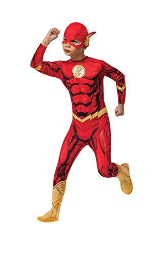 Marvel Comic Kostüme Fancy Dress (Rubies 3881332 - The Flash DC Comics Classic Child,)
