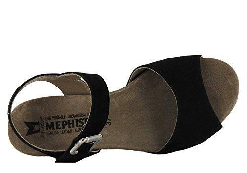 Mephisto BEAUTY VELCALF P.12260/BOA 3312 LIGHT SAND, Sandali donna Nero (nero)