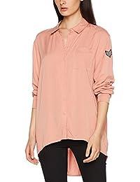 ONLY Damen Bluse Onlella Oversized L/S Shirt Wvn