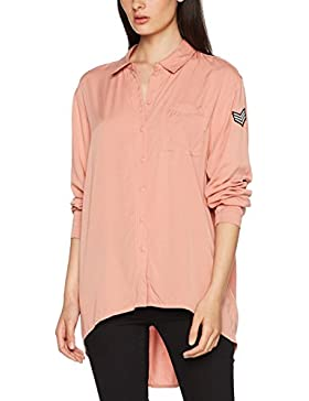 Only Onlella Oversized L/S Shirt Wvn, Blusa para Mujer