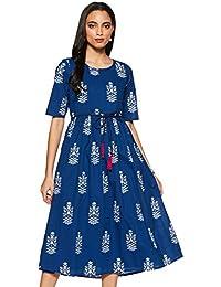 Amazon Brand - Myx Cotton Empire Dress