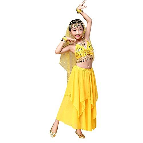 UFODB Baby Kostüm Mädchen, Kids Mode Quaste Schmuck Camisole Princessin Tanzkleider Tanzbekleidung Tanzen Outfit Indien Lateinkleid Festkleider Ballkleider ()