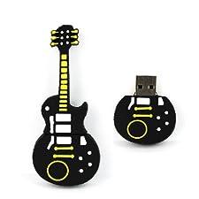 YooUSB 8GB Novelty Cool Yellow Black Guitar USB Flash Key Pen Drive Memory Stick Gift UK