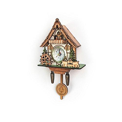 QJONKE Kuckucksuhren Mini Wanduhren Nordic Klassische Vogel Zeit Glocke Dekorationen Home Vintage Wandkunst Für Küche