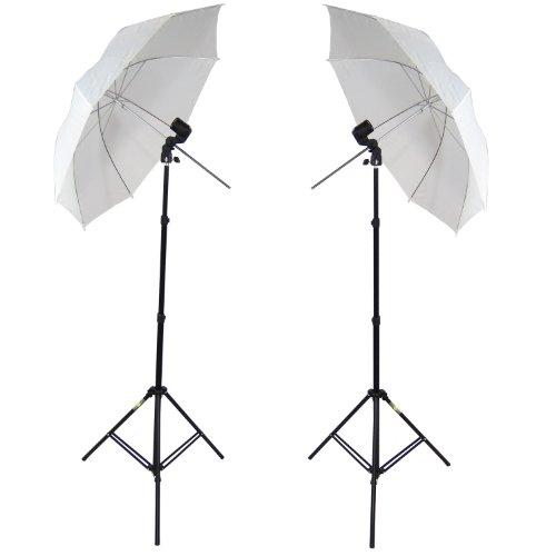 DynaSun 2x W963S E27Professionelles Set mit Halter, Regenschirm, Ständer und Tasche für Flash Beleuchtung Monolight Monolight-flash-kit