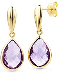 Miore Earrings Women Drop earrings Amethyst Yellow Gold 14 Kt/585