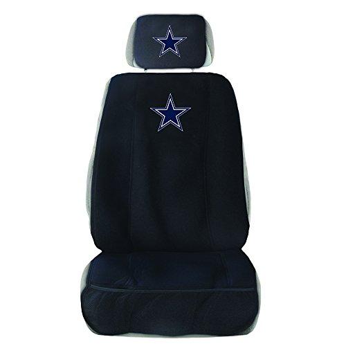 Fremont Die NFL Dallas Cowboys Sitz mit Kopfstütze Cover, schwarz, one Size (Aufkleber Dallas Cowboys)