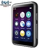 CCHKFEI Lettore MP3 Bluetooth da 16 GB con schermo touch da 2,4 pollici HiFi in metallo altoparlante integrato, supporto radio FM/registratore vocale