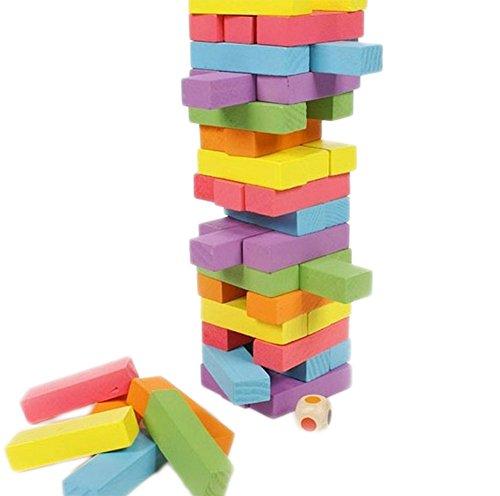 Scrox 48 Pcs Dominos en bois Ensemble pour les enfants,...