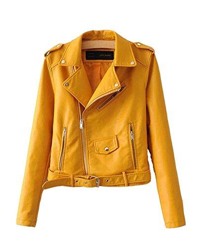 saideng-donna-punk-stile-giacca-moto-corto-in-pelle-pu-cappotto-cerniera-jacket-giallo-m