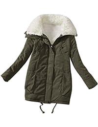 LvRao Mujer - abrigos de invierno - cuello con pelo - manga larga - largo caliente espesan parkas chaquetas