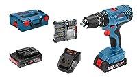 Bosch Professional - Taladro percutor a batería GSB 18V-21 (2 baterías d...