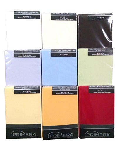 Premium Baumwoll-Jersey Seitenschläferkissen-Bezug, 40x140 cm, rot