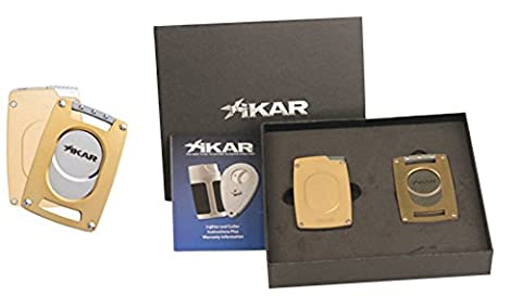 Xikar Ultra Mag Single Jet Flame Lighter With Ultra Slim Cutter Multi Listing (Gold)